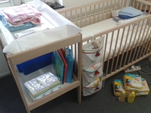 Commode & Baby crib