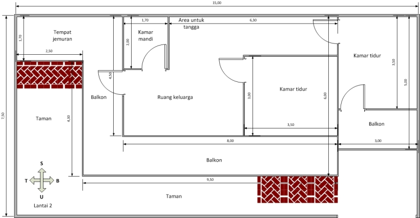 Desain rumah lantai 2