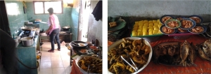 Dapur dan tempat makan yang jadi satu