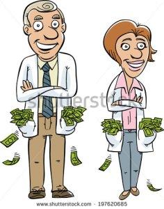 Doktor yang menikmati uang banyak, sulit terjadi di Belanda. Sumber gambar dari [4].