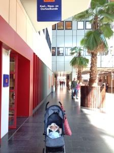Kinan di UMCG, rumah sakit pendidikan di Groningen.