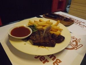 Steak tenderloin saus bbq