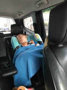 Tidur di car seat